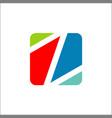 letter z icon logo application square shape vector image