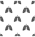 Lungs icon in black style isolated on white vector image
