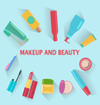 MakeUp and beauty Symbols Cosmetics and fashion ba vector image