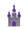 medieval fairytale castle with towers ancient vector image vector image