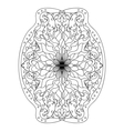 Monochrome black and white lace ornament