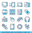 Multimedia and electronics vector image vector image