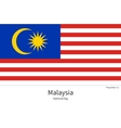 National flag of Malaysia with correct proportions vector image