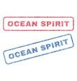 ocean spirit textile stamps vector image vector image