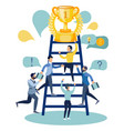 office staff compete for victory in minimalist vector image vector image