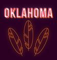 oklahoma vintage 3d lettering retro bold font vector image