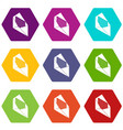open envelope icons set 9 vector image