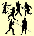 People action silhouette