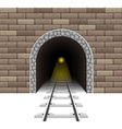 railway tunnel 02 vector image vector image