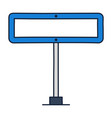 rectangle road traffic sign icon in outline vector image vector image