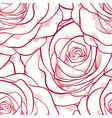 red and white seamless pattern in roses vector image vector image