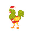rooster symbol of new year cute animal of chinese vector image