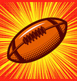 rugby ball on comic style background design vector image