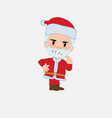 santa claus ponders something angry vector image vector image