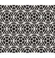 Seamless Black And White Geometric Hexagon vector image vector image
