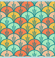 seamless scales colorful pattern vector image vector image