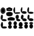 set of different ring boxes vector image vector image