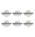 set six german icons made in germany symbols vector image vector image
