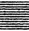 striped seamless pattern black and white vector image