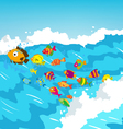 surf fish vector image