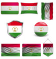 tajikistan flag isolated national flag of vector image vector image