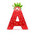 Tasty alphabet vector image vector image