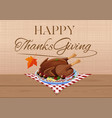 thanksgiving day design with fried festive turkey vector image