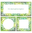 three abstract springtime frames vector image