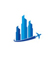travel real estate logo icon design vector image