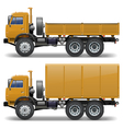 trucks set 1 vector image vector image