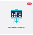 two color data analytics graphic on a vector image vector image