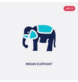 two color indian elephant icon from india concept vector image vector image