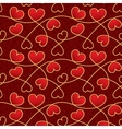 Valentine day texture with red hearts vector image vector image