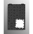 Vertical Poster A4 Puzzle Pieces Black Puzzles vector image vector image