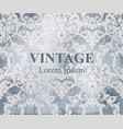 vintage baroque pattern royal texture vector image vector image