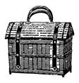 vintage engraving a basket vector image vector image