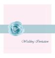 wedding card invitation with pink rose ribbon vector image vector image