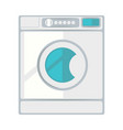white laundry machine vector image vector image