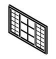 wood window frame icon simple black style vector image vector image