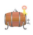wooden barrel for wine vector image vector image