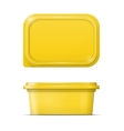 Yellow margarine spread template vector image