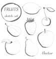 Set of fruits in sketch styleFreehand drawing vector image