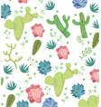 desert plants pattern background vector image