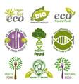 organic food logos vector image
