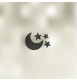 full moon icon on blurred background vector image