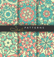 Set 6 cover books Bright patterned covers for vector image