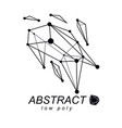 3d polygonal geometric faceted object abstract vector image vector image