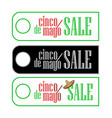 a set of sale label tegs at cinco de mayo in three vector image vector image
