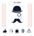 abstract hipster silhouette vector image vector image