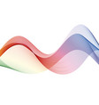 abstract motion smooth color wave curve rainbow vector image vector image